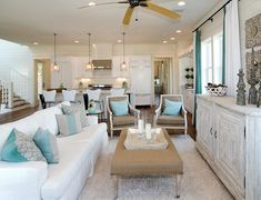House of Turquoise: Destination 30A! I like the aqua and grey pillow combinations
