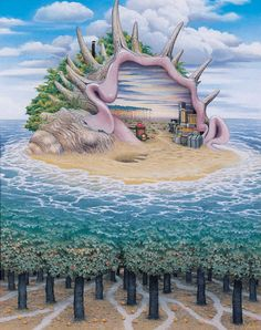 Jacek Yerka - The Two Worlds and Another One