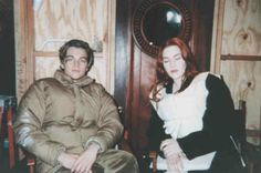 on set of Titanic with Leo and Kate