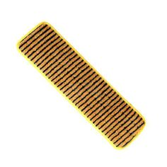 "Microfiber Scrubber Pad, 5"" x 18"" by Rubbermaid. $16.86. Mop Head Color - Yellow. Global Product Type - Mop Heads-Microfiber Scrubber Pad. Head Type - Microfiber Scrubber Pad. Application - Floors. Catalog Publishing Type - Mop Heads-Standard. Vertical polypropylene scrubber stripes remove stubborn spots and clean into tile grout lines. Dense ultra-fine quality fiber removes dust, dirt and bacteria. Hook-and-loop backing, double finished edges. 1/2"" Height."