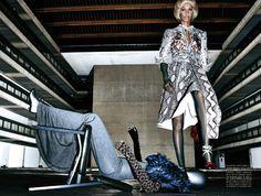 Publication: Vogue Italia December 2014 Model: Joan Smalls Photographer: Steven Klein Fashion Editor: Tonne Goodman