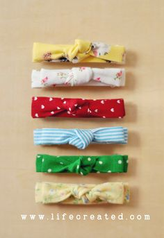 LifeCreated Blog: No Sew Fabric Clip DIY - Uses scrap fabric, a hot glue gun and a plain barrette