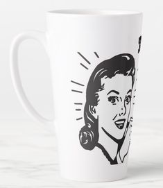 Shop Better Latte Than Never! - Latte Mug created by TheDigitalConsultant. Drinking Coffee, Coffee Drinks, Latte Mugs, Mugs For Sale, 4 H, Mug Designs, Microwave, Dishwasher, Beverages