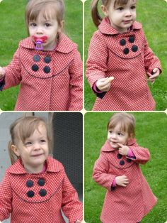cute spin on a peacoat  I know a little girl that would look ADORABLE in this little coat @Gretchen Schaefer Neisler