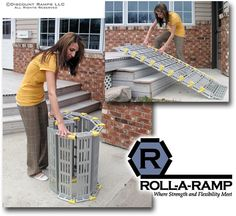 Roll-A-Ramp Portable Loading Ramp System from Discount Ramps is SUPER versatile! Can be used for wheelchair or powerchair accessibility, as well as loading motorcycles, ATVs or lawn equipment. Starting at $279.99.