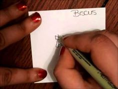 ▶ Tangle Tutorial: Biscus - YouTube
