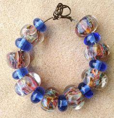 Carribean Calypso Handmade Lampwork Boro Beads by LodahlArtWorks