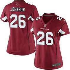 Limited Rashad Johnson Womens Jersey - Arizona Cardinals 26 Home Red Nike NFL