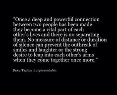 A deep powerful and magical connection
