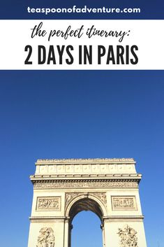If your time in the City of Lights is limited, you can still make the most of it. Here's your perfect itinerary for 2 days in Paris! #paris #travel Montmartre Paris, Paris Cafe, Paris Paris, France Eiffel Tower, Eiffel Towers, Shakespeare And Company, Paris Itinerary, Paris At Night, Ireland Travel