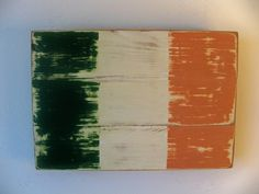 I love this Irish flag for my hubby!