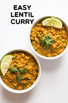recipes easy Easy Lentil Curry - This creamy curry comes together fast with packaged Indian curry paste, no salt added chickpeas, frozen veggies, coconut milk, and quick cooking red lentils. You do have time to eat well with this easy curry! Lentil Recipes Indian, Indian Food Recipes, Whole Food Recipes, Cooking Recipes, Easy Lentil Recipes, Milk Recipes, Cooking Bacon, Curry Recipes, Veggie Recipes