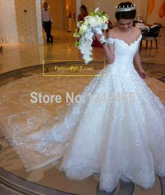 Find More Wedding Dresses Information about Expensive Sweetheart Off Shoulder Chathedra/Royal Train Wedding Dress Lace Beaded Luxury Saudi Long Train Wedding Gowns MC132,High Quality gown shoes,China gown evening Suppliers, Cheap gown lace from TBNA Bridal on Aliexpress.com