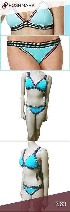 6113002730a39 Bar III Women's Weave It Triangle Bikini Set Bar III Women's Weave It  Triangle Bikini set