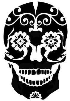 printable sugar skull stencils easy | Sugar Skull Stencil Template