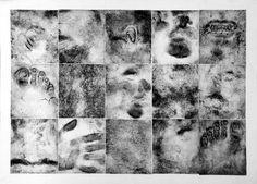 BILL CHAMBERS body cast collagraph