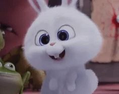 The perfect SnowBall Rabbit Bunny Animated GIF for your conversation. Discover and Share the best GIFs on Tenor. Cute Bunny Cartoon, Kawaii Bunny, Cute Cartoon Pictures, Foto Cartoon, Cartoon Gifs, Cute Cartoon Wallpapers, Snowball Rabbit, Gif Mignon, Disney Mignon