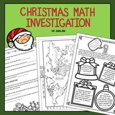 Free Christmas Math Investigation US No Prep Maths Investigations, Christmas Math, Xmas, Teacher Freebies, Higher Order Thinking, Teaching Math, Teaching Ideas, Math Practices, Thinking Skills
