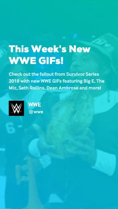 Check out the fallout from Survivor Series 2018 with new WWE GIFs featuring Big E, The Miz, Seth Rollins, Dean Ambrose and more! Wwe W, Wwe Gifs, Survivor Series, Seth Rollins, Lol, Fun