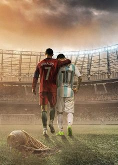 Messi and Ronaldo made many of us Love Football. World Cup 2018 Russia Football Messi, Art Football, Messi Soccer, Football Players, Ronaldo Soccer, Legends Football, Football Fever, Football Is Life, Cr7 Wallpapers