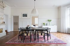 Matplats Dining Area, Dining Room, Dining Table, Stockholm, Living Spaces, Interior Design, Rugs, Architecture, House