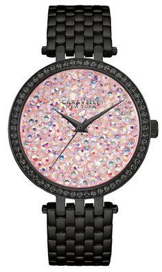CARAVELLE NEW YORK Crystal Rock Damen Uhr 45L164 NEU & OVP