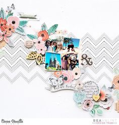 Scrapbook Layout | Scrapbooking Ideas | 12X12 Scrapbook Page | Creative Scrapbooker Magazine  #scrapbooking #12X12layout