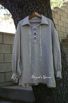 Linen Pirate Shirt  Men's sizes by DryadsGrove on Etsy