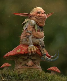 MushroomGoblin by rishikesh | Fantasy | 3D | CGSociety
