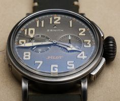 """Zenith Heritage Pilot Cafe Racer Spirit Watch Hands-On - Ariel Adams - Lots of great shots of this Zenith live now at: aBlogtoWatch.com """"In theme, the new Zenith Pilot Type 20 watch for 2016 isn't truly a pilot watch at all (though it does still say 'Pilot' on the dial), but it is now intended to celebrate the cafe racer community. Thus, we have gone from hipster aviators to hipster motorcycle owners. To be honest, the cafe racer connection is the least interesting part of this watch for…"""