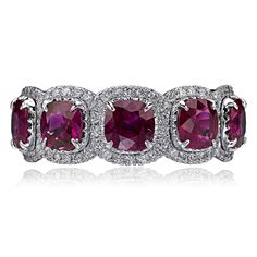 Christopher Designs Band with Rubies and round diamonds. Christopher Designs, Wedding Band Sets, Diamond Are A Girls Best Friend, Diamond Rings, Round Diamonds, Birthstones, Heart Ring, Jewelery, Bling
