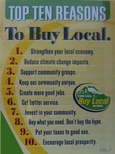 The local food movement is growing fast. Join the food revol.- The local food movement is growing fast. Join the food revolution.foodrevo… The local food movement is growing fast. Join the food revolution. Buy Local, Shop Local, Support Local Business, Small Business Saturday, Economic Development, Sustainable Development, Business Quotes, Business Ideas, Good Job