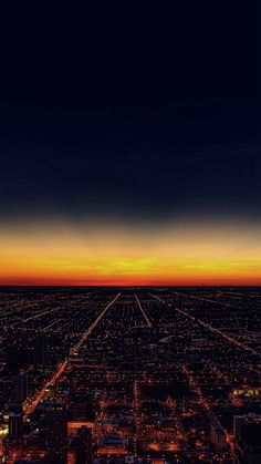Night Sky Flying Sunset City iPhone 6 wallpaper