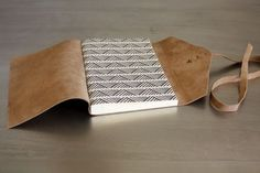 Leather journal detail photo by Katie Gonzalez