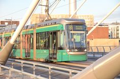 Tram on Crusell Bridge, Helsinki