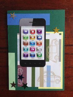 Verjaardagskaart met telefoon thema! Birthday card with phone on it! DIY