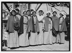Nursing Bound for Europe aboard the Red Cross ship...mid September 1914...beginning of WW1...