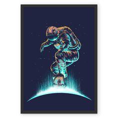 Poster Space grind de @digitalcarbine | Colab55