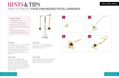 Follow this jewellery making tutorial to make your own Beaded Petal Earrings.
