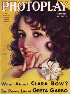 """Pictured Bebe Daniels on Photoplay Magazine Cover [October 1930] """"What About Clara Bow?"""" """"The Private Life of Greta Garbo"""""""