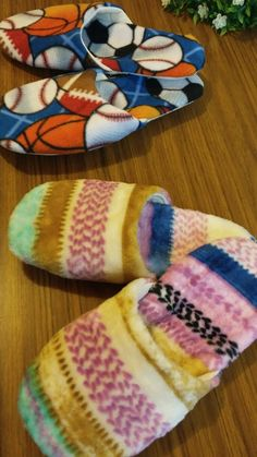 Slippers Free Sewing Pattern