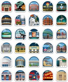 All 30 MLB stadiums -- I've only made a small dent in this list - hope to hit a lot more before I go to the big stadium in the sky.