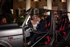 reception exit, getaway car, ford bronco