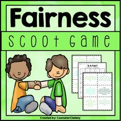 Fairness Scoot Game For Character Education Lessons Character Education Lessons, Character Trait, Character Counts, Group Games For Kids, Activities For Kids, Abc School, School Stuff, Girl Scout Daisy Petals, Guidance Lessons