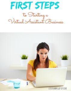 A series of posts on the first steps to starting a virtual assistant business.  FULL of Valuable INFO!