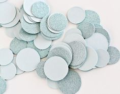 Aquamarine Glitter Table Confetti  Chic Sparkly by WeddingAmbience, $6.00