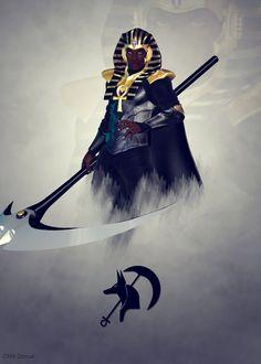 The Reaper by yangzeninja on DeviantArt Fantasy Character Design, Character Inspiration, Character Art, Black Anime Characters, Fantasy Characters, Fantasy Warrior, Fantasy Art, Ancient Egypt Art, Ancient History