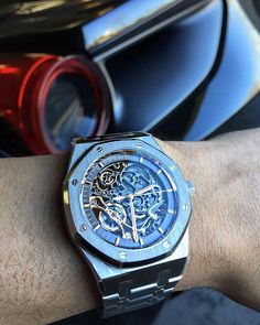 First AP 41mm skeleton with double balances delivered in the US to another one of our followers. Ferrari 488 in the background straight chillin