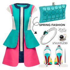 """Anastazio-spring dress"" by anastazio-kotsopoulos ❤ liked on Polyvore featuring Inge Christopher, Lattori, Christian Louboutin, Anastazio and Home Decorators Collection"