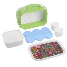 Grandmas Garden Kids Lunch Box #zazzle #lunchbox #grandmas #garden #flowers